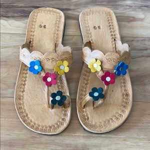 Boho 100% leather hand made women's sandals